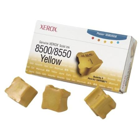 Xerox 108R00671 Original Yellow Ink Sticks (Pack of 3)-USA Made