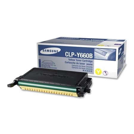 Samsung CLP-Y660B Yellow High Capacity Original Toner Cartridge