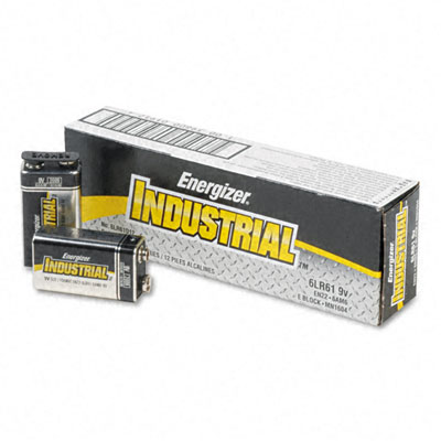 Energizer Industrial Alkaline Batteries  9V  12/Pack