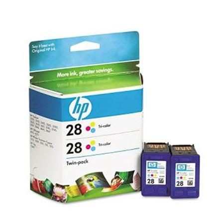 HP 28 Tri-Color Original Twin Pack Ink Cartridge