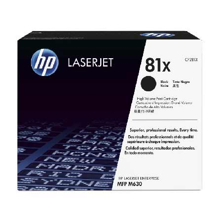 HP 81X Black Original High Capacity Toner Cartridge (CF281X)