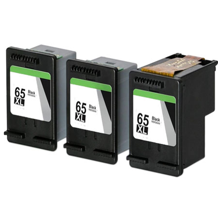Compatible Black HP 65XL High Yield Ink Multipack (Replaces 3 x N9K04AN + 1 x Printhead)