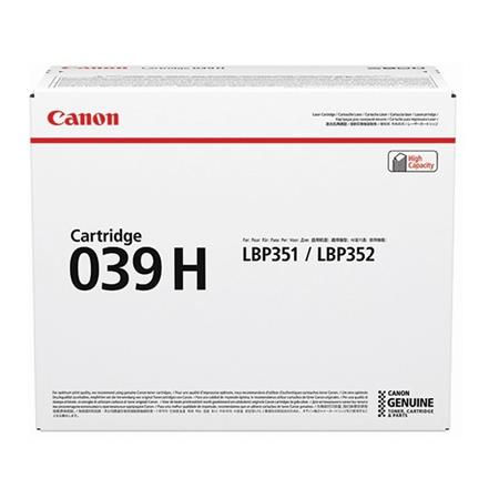 Canon 039HBK Black Original High Capacity Toner Cartridge (0288C001AA)