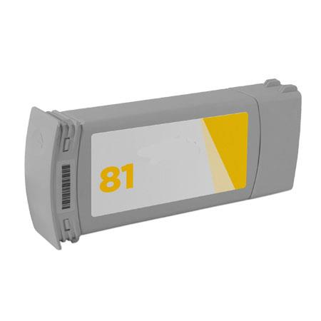 HP 81 Yellow Dye Remanufactured High Capacity Ink Cartridge (C4933A) (680ml)
