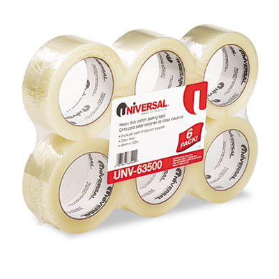 Box Sealing Tape 2Inch x 110 yards 3Inch Core Clear 6/Box