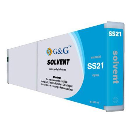 Compatible Cyan Mimaki SS21C Mild-Solvent Ink Cartridge