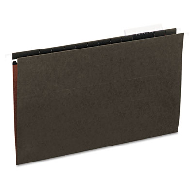 Universal Hanging File Folders 1/3 Tab 11 Point Stock Legal Standard Green 25 per Box