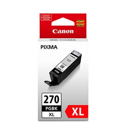 Canon PGI-270XLPGBK Pigment Black Original High Capacity Ink Cartridge