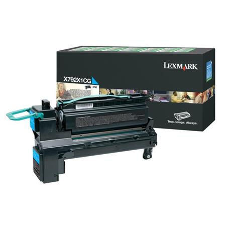 Lexmark X792X1CG Cyan Original Extra High Capacity Return Program Toner Cartridge