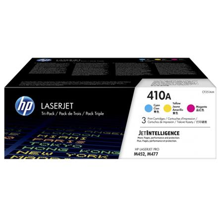 HP 410A (CF251AM) Color Original Standard Capacity Toner Cartridge Multipack - 3 Pack