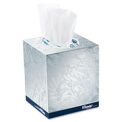 KIMBERLY-CLARK PROFESSIONAL* KLEENEX BOUTIQUE White Facial Tissue  2-Ply  POP-UP Box  95 Tissues/Box