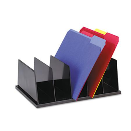 Universal Large desktop sorter  5 sections  plastic  13 7/8 x 18 7/8 x 6  black