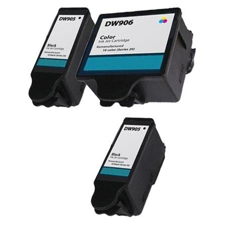 Compatible Multipack Dell DW905/DW906 Full Set + 1 EXTRA Inkjet Cartridges