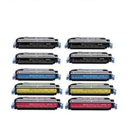 Q6460A/63A 2 Full Sets + 2 EXTRA Black Remanufactured Toner Cartridge