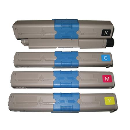 44469802/44469719/20/21 Full Set Remanufactured Toner Cartridges