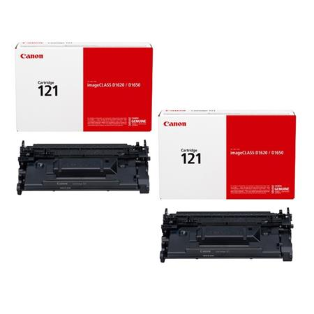 Canon 121 (3252C001) Black Original Toners - Twin Pack