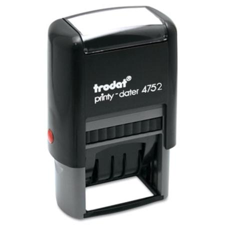 U. S. Stamp & Sign Trodat Economy Stamp  Dater  Self-Inking  1 5/8 x 1  Black/Red