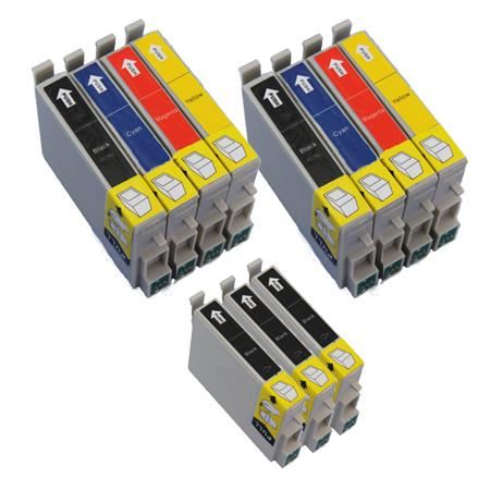 Compatible Multipack Epson T0321/324 2 Full Sets + 3 EXTRA Black Ink Cartridges