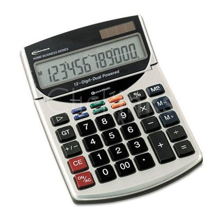15966 Compact Desktop Calculator 12-Digit LCD