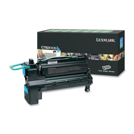 Lexmark C792X1CG Original Cyan Extra High Capacity Return Program Toner Cartridge