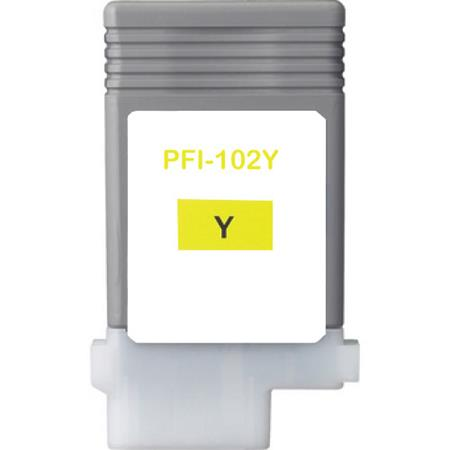 Compatible Yellow Canon PFI-102Y Ink Cartridge (Replaces Canon 0898B001AA)