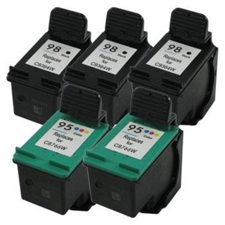 95/98 2 Full set + 1 EXTRA Black Remanufactured Inks