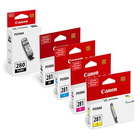 Canon PGI-280BK/CLI-281BK/C/M/Y Full Set Original Inks