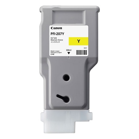 Canon PFI-207Y Yellow Original Ink Tank (8792B001)