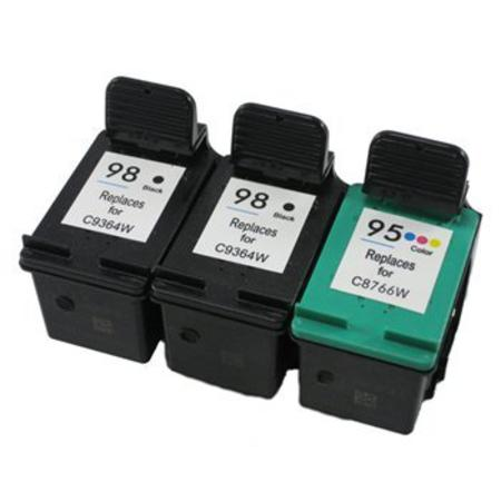 98/95 Full Set + 1 EXTRA Black Remanufactured Inks