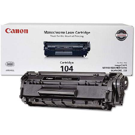 Canon 104 Original Black Toner Cartridge (0263B001AA)