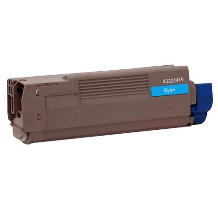 OKI 43324419 Remanufactured Cyan Toner Cartridge