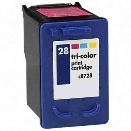 HP 28 TriColor Remanufactured Printer Ink Cartridge (C8728AN)