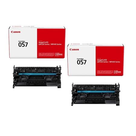 Canon 057 Black Original Standard Capacity Toner Cartridges - Twin Pack