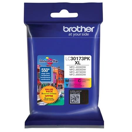 Brother LC30173PKS Color Original High Capacity Ink Cartridge Multipack - 3 Pack