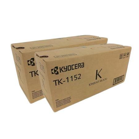 TK-1152K Black Original Toners Twin Pack