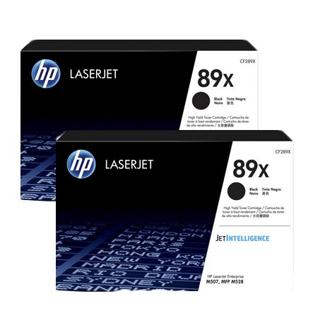 HP 89X (CF289X) Black Original High Capacity Toner Cartridges Twin Pack