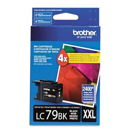 Brother LC79BK Black Original Super High-Yield Ink  (LC-79BK)