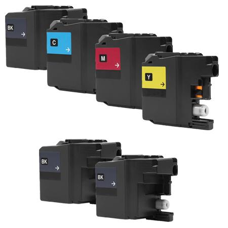 Clickinks LC10EBK Full Set + 2 EXTRA Black Compatible Inks