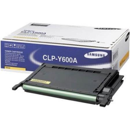 Samsung CLP-Y600A Original Yellow Toner Cartridge