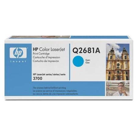 HP Color LaserJet Q2681A Cyan Original Print Cartridge with Smart Printing Technology