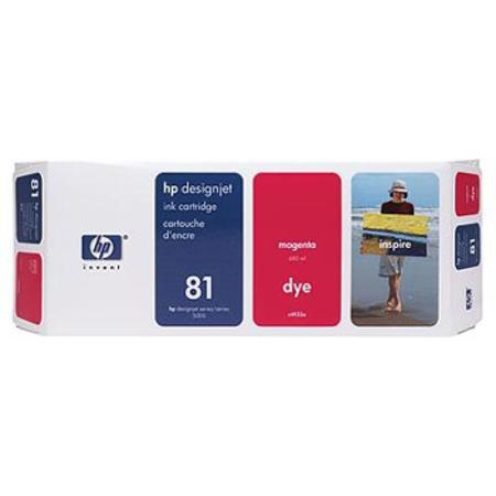 HP 81 Original Magenta Dye Ink Cartridge High-capacity (C4932A)