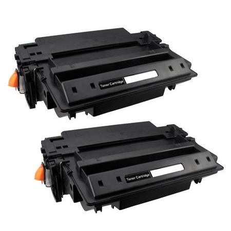 11A Black Remanufactured Toner Cartridges Twin Pack
