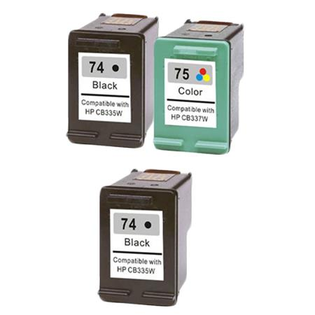 Clickinks 74/75 Full Set + 1 EXTRA Black Remanufactured Inks