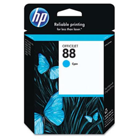 HP 88 Cyan Original Ink Cartridge with Vivera Ink (C9386AN)