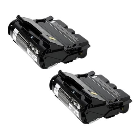 T650A11A Black Remanufactured Toners Twin Pack