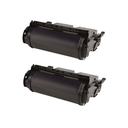 Compatible Twin Pack Black Lexmark 64035HA Toner Cartridges