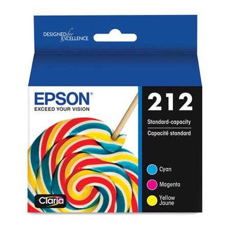 Epson 212 (T212520) Color Original Standard Capacity Ink Cartridges Multipack - 3 Pack