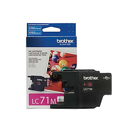 Brother LC71M Magenta Original Standard Yield Ink Cartridge