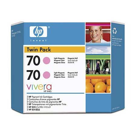 HP 70 (CB346A) Original Light Magenta Ink Cartridge (Twin Pack)