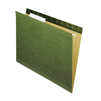 Universal Reinforced Recycled Hanging Folder 1/3 Cut Letter Standard Green 25/Box